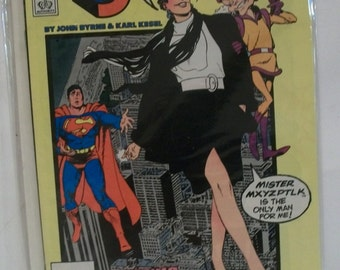 Superman #11  Lois Lane & Mister Mxyzptlk on Cover VF-NM Newstand Unread Condition Vintage John Bryne/Karl Kesel   DC Comic Book 1987