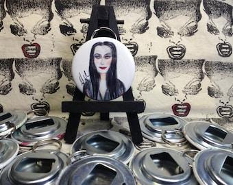 Addams Family Morticia Addams original art Bottle Opener