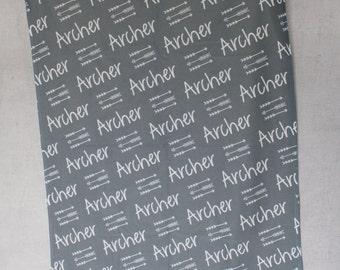 Personalized Baby Blanket - Monogram Baby Blanket - Swaddle Receiving Blanket - Baby Shower Gift - Custom Blanket - Monogrammed