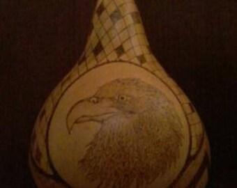 Eagle design and emblem Gourd