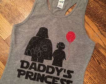 Daddy's Princess tank, Star Wars girls tank, Star Wars daddy's princess tank, family disney shirts,