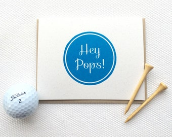 Hey Pops!  (Gocco Printed Father's Day Card)