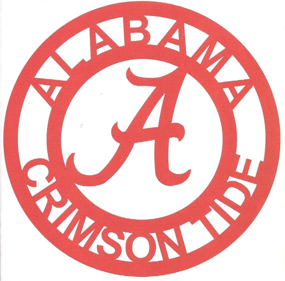 Alabama Crimson Tide Sign Metal