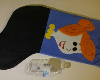 "24"" Handmade Fleece Christmas Stocking- Hanna-Barbera's Inspired Yabba-Dabba Do Wilma Flintstone Likeness"