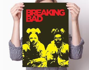 Breaking Bad poster: Heisenberg print, Breaking Bad gift, Breaking Bad art, Jesse Pinkman, Walter White poster, drugs poster, Bryan Cranston