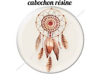 resin cabochon mounted on a stick 20 dreamcatcher dream catcher Indian ethnic arrows 3 mm