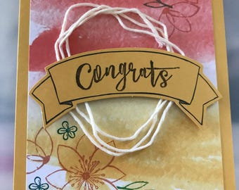 Congratulations greeting card handmade