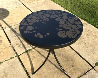 Hand Painted Unique Art Deco Coffee Table