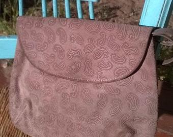 suede paisley embossed NEIMAN MARCUS vintage bag