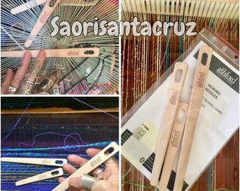 Set of 3 Ashford wood weaving needles : saorisantacruz