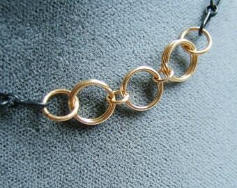 BDSM Day Collar, Discreet Day Collar, 14K Gold-filled Day Collar, O Ring Day Collar, Submissive Collar, Slave Collar, Submissive Jewelry