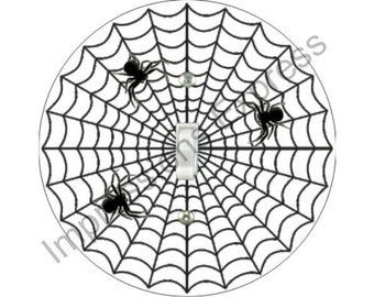 Spider Web Single Toggle Switch Plate Cover