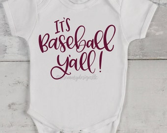 It's Baseball Y'all - Hand Lettered SVG for cutting machines