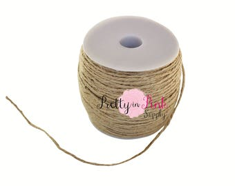 Natural Twine-2mm Hemp Cord- Rope-Jewelry-D.I.Y Supplies- Jute-Ribbon-Burlap