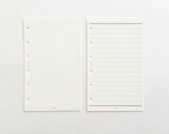 Tomoe River Paper Agenda Refills 126 x 76 mm - Ruled / Blank   for LV agenda PM, Filofax Pocket size etc.   japanese stationery