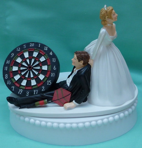 Dart Wedding Cake Topper