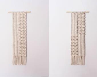 Set Of Macrame Wall Hangings, Bedroom Wall Hangings Set, Geometric Macrame