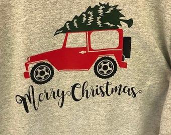 Jeep Christmas shirt