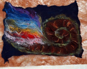 wool picture, felting