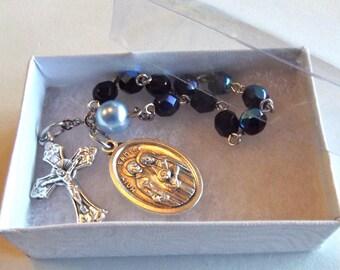 Holy Family Blue Prayer Beads