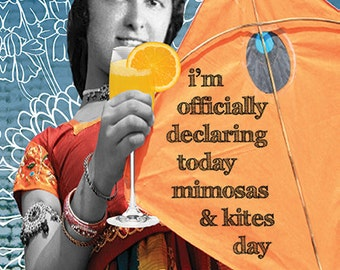 324s Mimosas & KItes. Handmade in our Atlanta studio using archival inks, hand stretched, and signed by Erin.