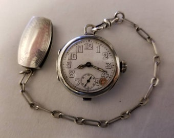 Rare Antique Rolex Officers Trench Swiss Mechanical Wrist Watch