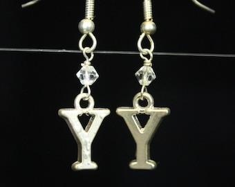 Personalized Initial Earrings Letter Y