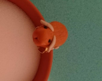 cute Guinea pig ring -  Guinea pig made from Fimo