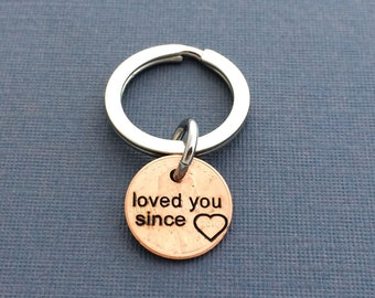 Loved You Since Engraved Penny - Gift for Her - Gift For Him - Engraved Penny - Hubby Wifey Gift - Boy Friend - Girl Friend