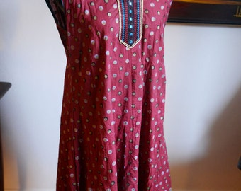 Small / Medium - Vintage Exotic Indian Dress