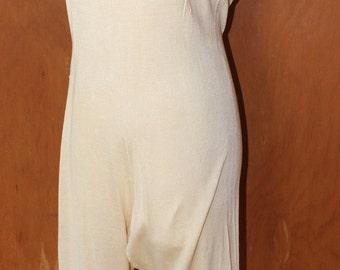 """38"""" bust, Vintage one piece silk underwear, circa 1912"""