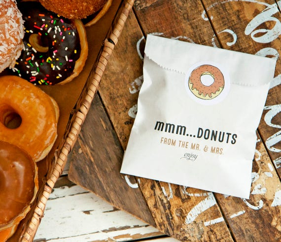 Wedding Favors Food: Donut Favor Bag Wedding Food Favor MMM Donuts Wax