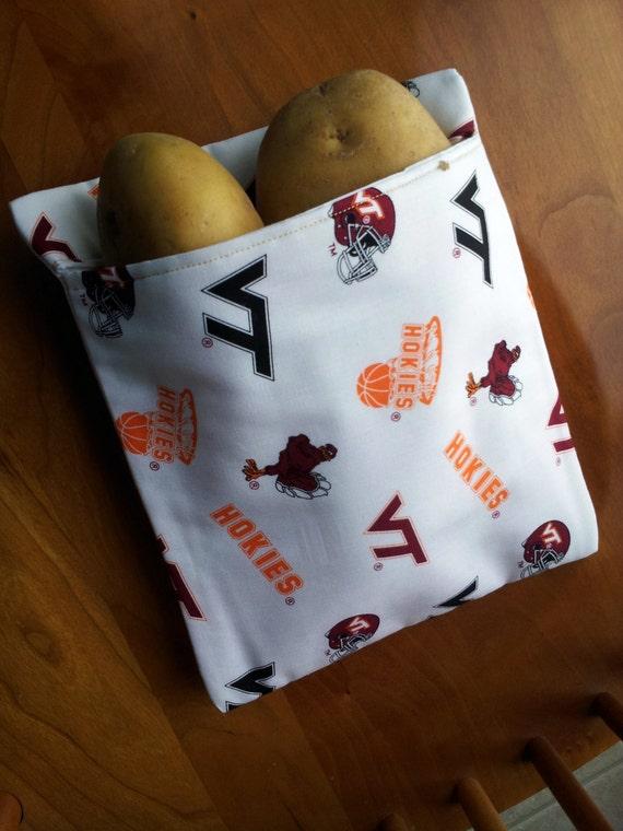 Virginia Tech Microwave Baked Potato Bag