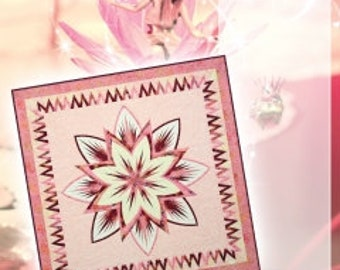 Water Lily Quilt Kit for paper piecing pattern by Quiltworx / Judy Niemeyer