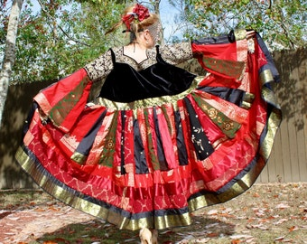 Imperial Wedding Upcycled Vintage Silk Sari Sarree Coat by SnugglePants- Custom