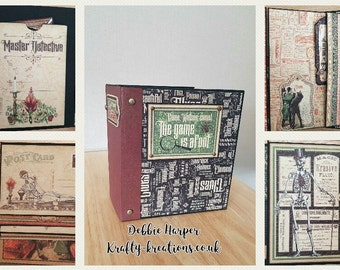 Master detective mini album, complete with pockets, photos mats and tags