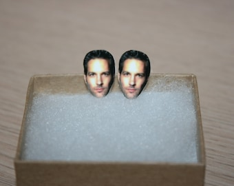 Paul Rudd Post Stud Earrings Celebrity Inspired Jewelry