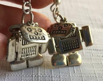 Robot Earring,Robot 3D Earring,Sci Fi Earring,Robot Dangle Earring,Nerd Earring,Sci Fi Jewelry,Robot Gift,Robot Jewelry,Robot Present