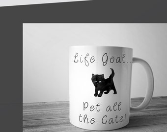 Cute cat Coffee mug, ceramic mug, cat lover mug