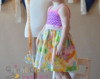 Homegrown Tank Dress PDF Sewing Pattern, inc. 12months-14 years, Girls Dress Pattern, Knit Woven pattern