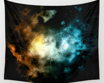 Galaxy Art Tapestry. Nebula of Fire and Ice. Space Travel. Stars Wall Hanging Tapestry. Star Gazing. Astronomy. Wall Decor. TGI02