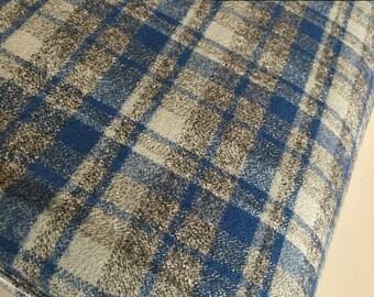 Hipster Flannel fabric, Buffalo Plaid, Flannel by the yard, Lumberjack Chic, Mammoth Flannel, Medium Plaid in Blue 110, Choose the cut
