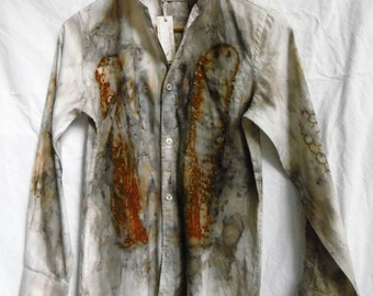 Long sleeve Shirt made new again with eco dying