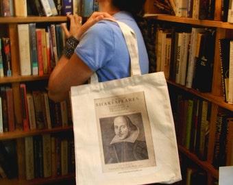 Quote Tote: Shakespeare First Folio Literary BookTote Bag