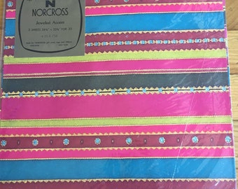 Jeweled Accent Norcross Vintage Wrapping Paper