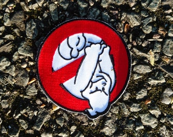 """Real Ghostbusters """"Upside Down"""" Logo Embroidered Patch"""