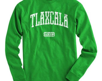 LS Tlaxcala Mexico Tee - Long Sleeve T-shirt - Men S M L XL 2x 3x 4x - Gift for Men, Tlaxcala Shirt, Tlaxcalteca, City, State, FC, Apizaco