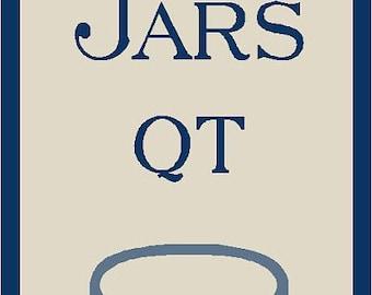 Old Blue Glass Fruit Jars Stencil 7 mil Mylar Reusable