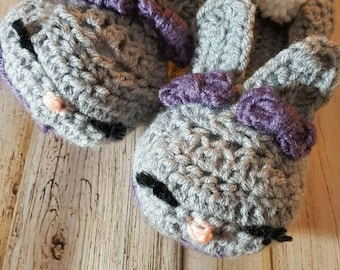 Crocheted women's Bunny slippers
