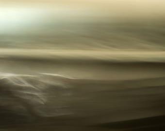 Wave Storm, rustic wall art, large wall art, abstract seascape, emotional photo, textured wall art, brown, canvas art photo, original print